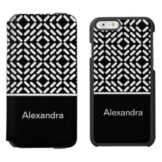 Black and white cylinder pattern incipio watson™ iPhone 6 wallet case
