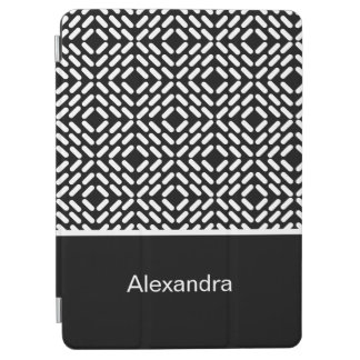 Black and white cylinder pattern iPad air cover