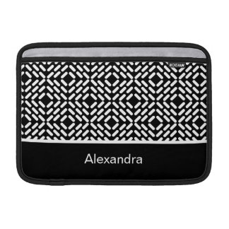 Black and white cylinder pattern sleeve for MacBook air
