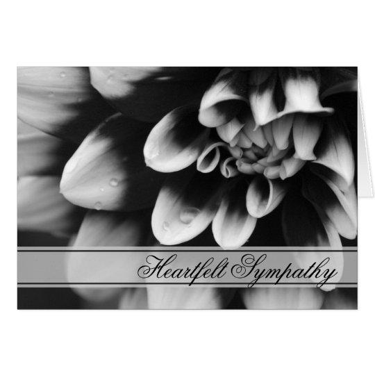 Black and White Dahlia Sympathy Card