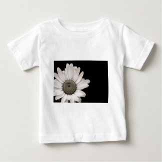Black and White Daisy Flower Baby T-Shirt
