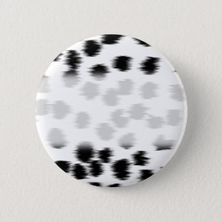 Black and White Dalmatian Print Pattern. 6 Cm Round Badge