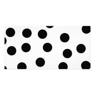 Black and White Dalmatian Spot Pattern. Customized Photo Card