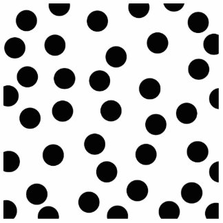 Black and White Dalmatian Spot Pattern. Standing Photo Sculpture
