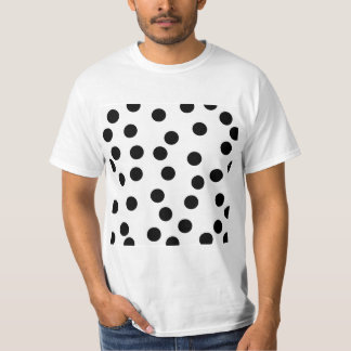 Black and White Dalmatian Spot Pattern. T-Shirt