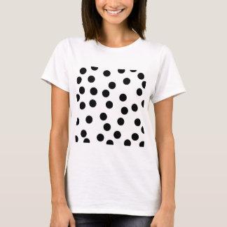 Black and White Dalmatian Spot Pattern. T-Shirt