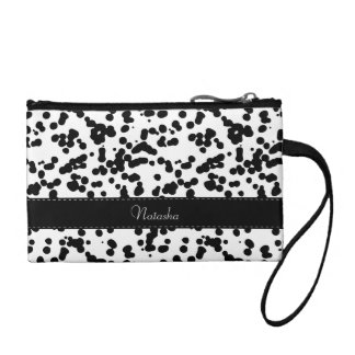 Black and White Dalmatian Spots Coin Purse