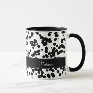 Black and White Dalmatian Spots Mug
