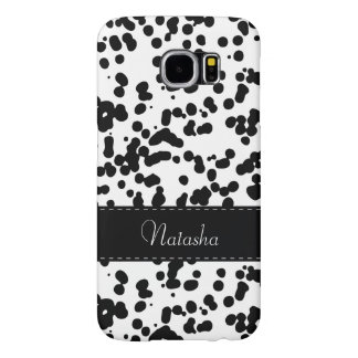 Black and White Dalmatian Spots Samsung Galaxy S6 Cases