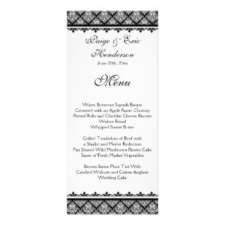 Black and White Damask 1 Rack Card