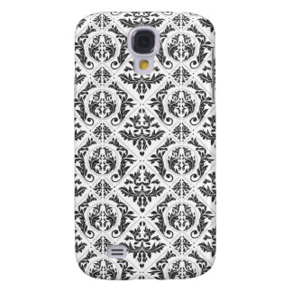 Black and White Damask Case Galaxy S4 Cases