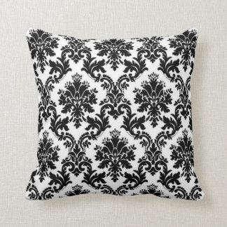 Black and White Damask Cushion