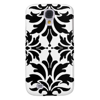 Black and White Damask Design Galaxy S4 Covers