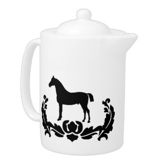 Black and White Damask Horse