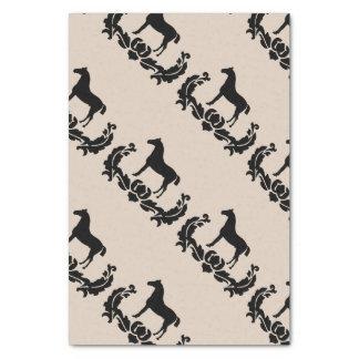 Black and White Damask Horse Tissue Paper