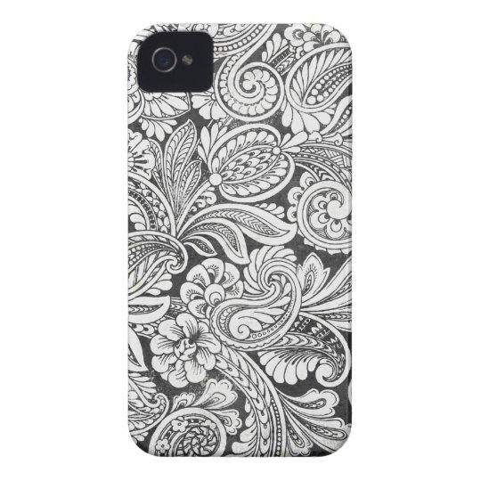 black and white damask iPhone 4 cover