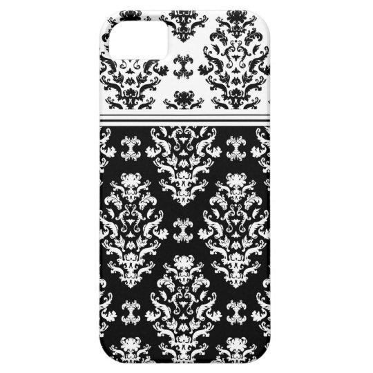 Black and White Damask iPhone 5 Case