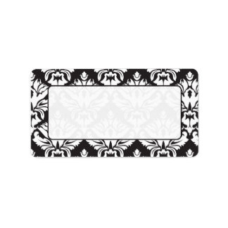 Black And White Damask Mailing Lables Address Label
