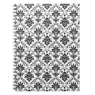 Black and White Damask Notebooks