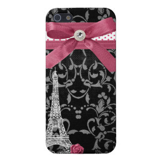 Black and White Damask Parisian Design iPhone 5/5S Cases