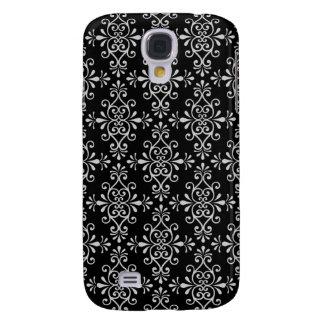 Black and White Damask Pattern Samsung Galaxy S4 Case