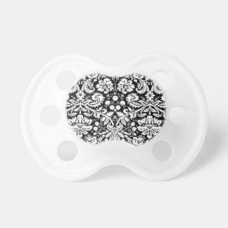 Black and white damask pattern dummy