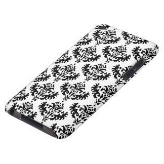Black and White Damask Pattern iPod Case-Mate Cases