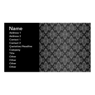 Black and White Damask Pattern Pack Of Standard Business Cards