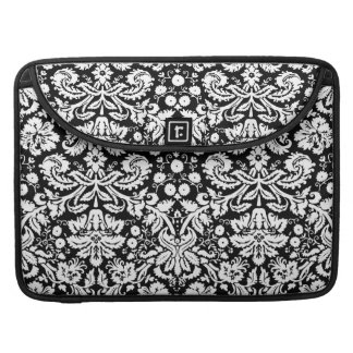 Black and white damask pattern sleeve for MacBooks