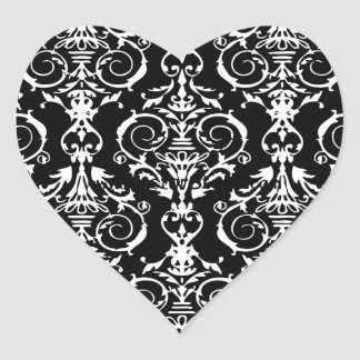 Black and White Damask Pattern Stickers