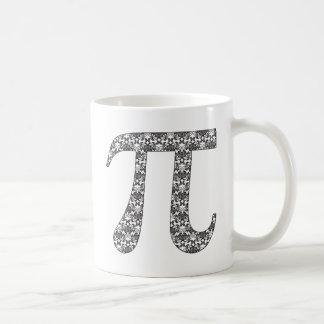Black and White Damask Pi.png Basic White Mug