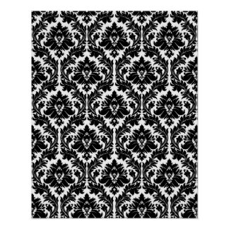 Black and white Damask Print