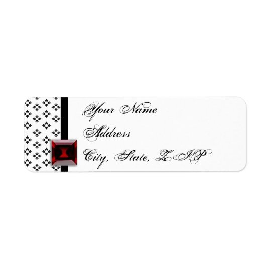 Black and White Damask Ruby Anniversary