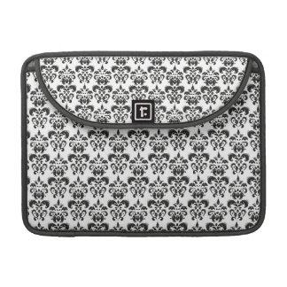 Black and white damask sleeve for MacBooks