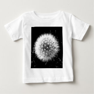 Black and white dandelion baby T-Shirt