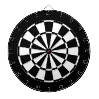 Black and White Dart Boards
