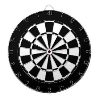 black and white dartboard