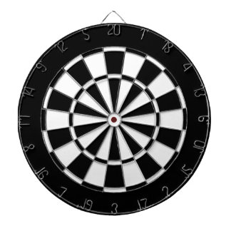 Black and white dartboard