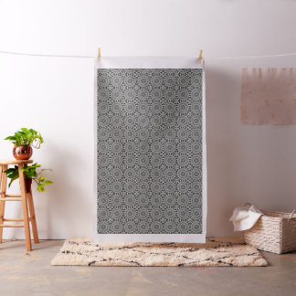 Black And White Decorative Mandala Fabric