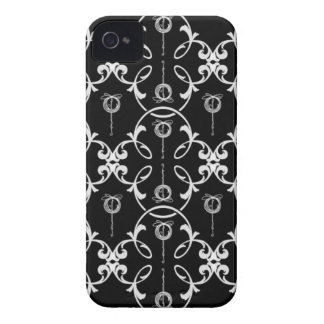 Black And White Decorative Pattern iPhone 4 Covers