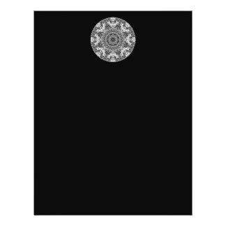Black and White Decorative Round Pattern. 21.5 Cm X 28 Cm Flyer