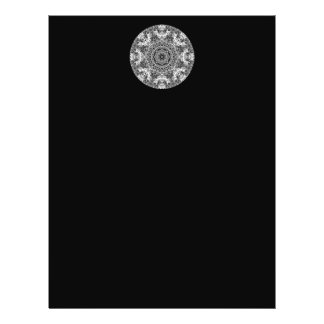 Black and White Decorative Round Pattern. Flyer