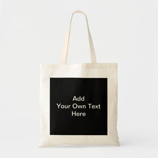 Black and White design, custom text. Tote Bag