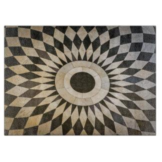 Black and white design glass cutting board