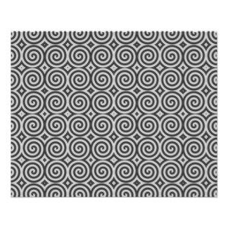 Black and white design. Pattern of Spirals. 11.5 Cm X 14 Cm Flyer