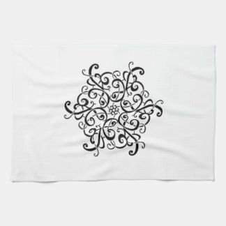 Black and White Design Tea Towel