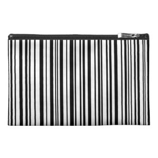 Black and white designer stripes - High Quality Travel Accessory Bag