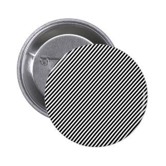 Black and white diagonal stripes. 6 cm round badge