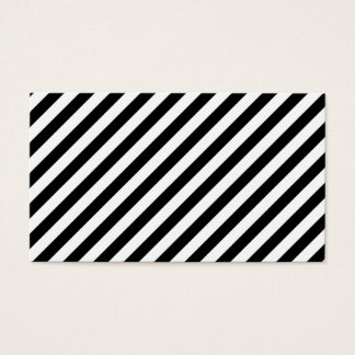 Black and White Diagonal Stripes. Business Card