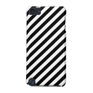 Black and White Diagonal Stripes. iPod Touch 5G Cases